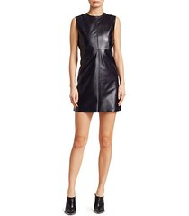 leather cutout shift dress