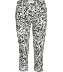 aida-ca-non zip-zebri trousers capri trousers svart free/quent