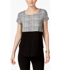 alfani knit print t-shirt, created for macy's