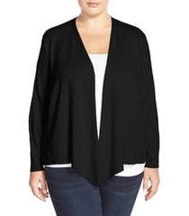 plus size women's nic+zoe 4-way convertible cardigan, size 1x - black