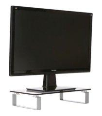mind reader glass monitor stand riser for computer, laptop, desk, imac
