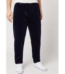polo ralph lauren men's pleated cord trousers - cruise navy - w36/l32