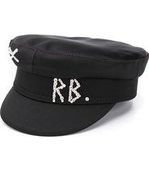ruslan baginskiy rhinestone logo breton hat - black