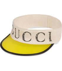 gucci vinyl visor with gucci logo - yellow