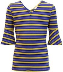 ai&ko blauwe top anny stripe