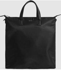 reiss carlton - nylon tote bag in black, mens