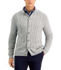 tasso elba men's chunky cardigan, created for macy's