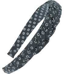 madewell puffy braided headband in midnight green at nordstrom