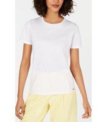 calvin klein petite cotton t-shirt