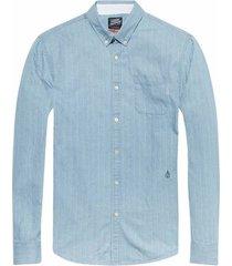 141257 - ams blauw allover printed button down shirt - kleur 20