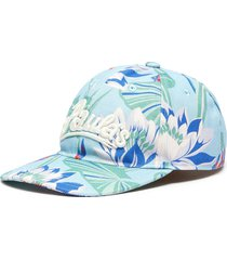 'paula's ibiza' waterlily print canvas cap