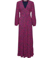 cindy l dress aop 10056 maxiklänning festklänning rosa samsøe & samsøe
