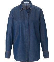 blouse met lange mouwen en verlaagde schoudernaden van peter hahn denim