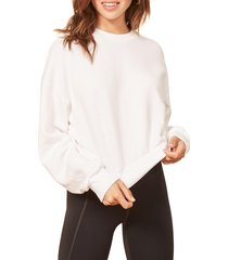 women's reformation hunter sweatshirt, size small - white