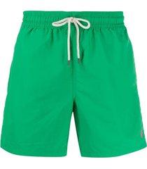 polo ralph lauren short de natação com detalhe de logo - verde