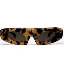 proenza schouler flat top sunglasses light medium tortoise one size