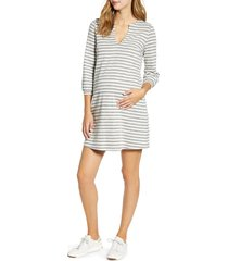 women's maternal america 'vintage pearls' maternity dress, size x-small - grey