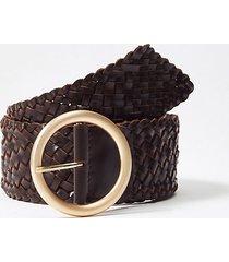 loft braided leather waist belt
