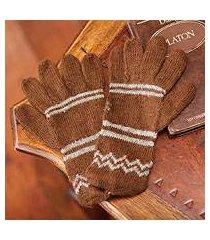 alpaca blend gloves, 'earthen clouds' (peru)