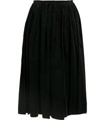 comme des garçons velvet midi skirt - black