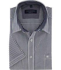 casa moda comfort fit overhemd korte mouw strepen