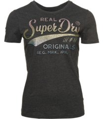 superdry real original glitter embossed t-shirt
