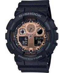 relógio casio g-shock analógico/digital ga100mmc