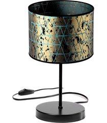 lampa stołowa nocna biurkowa abażur złoty
