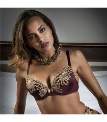 ambra lingerie bh's titanium push-up bh rood 438