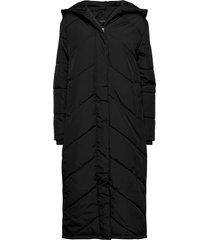 slfjanna puffer coat b gevoerde lange jas zwart selected femme
