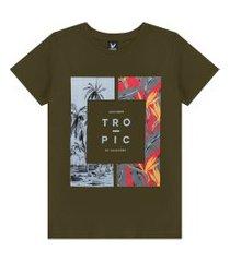 camiseta decoy plus size masculino tropic verde