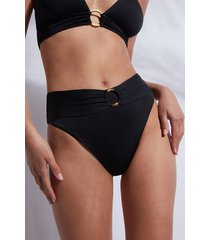 calzedonia high waist brazilian bottom swimsuit los angeles woman black size 4