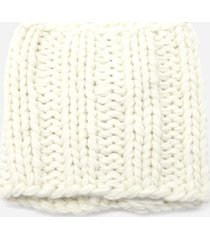 j.w. anderson white knitted neck warmer