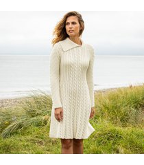 womens cape clear cream aran dress xl