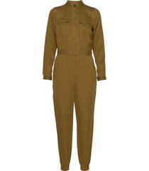 tencel™ flight jumpsuit jumpsuit groen banana republic