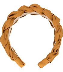 jennifer behr lorelei silk headband - brown