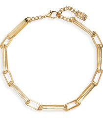 women's karine sultan rectangular link necklace