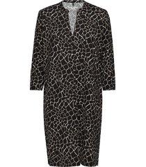 dress knitted fabric knälång klänning svart gerry weber edition