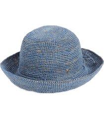 helen kaminski packable raffia hat in cornflower at nordstrom