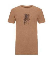t-shirt rough palm traces - marrom