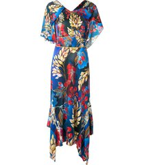 peter pilotto asymmetric day dress - pto. gldlef