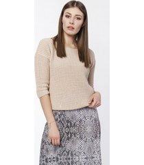 sweter z dekoltem z przodu lub tyłu