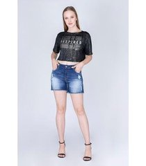 t-shirt dimy cropped boxy - feminino