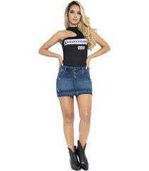 falda corta ajustada mujer - saramanta classic