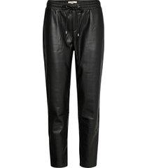 pants woven leather leggings/byxor svart edc by esprit
