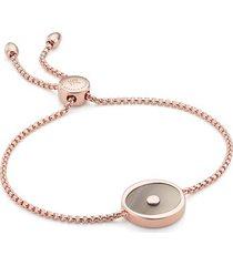 rose gold atlantis evil eye friendship chain bracelet grey agate