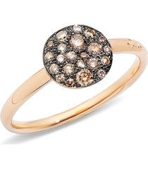 women's pomellato sabbia small diamond ring