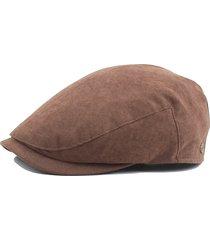 unisex berretto vintage regolabile casual caldo antivento in colore a tinta unita coppola outdoor