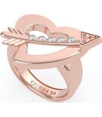 anillo across my heart rosa guess