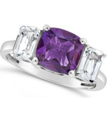 amethyst (2 ct. t.w.) and white topaz (1-3/8 ct. t.w) ring in sterling silver. also available in blue topaz (2-3/4 ct. t.w.) and amethyst (2 ct. t.w.)